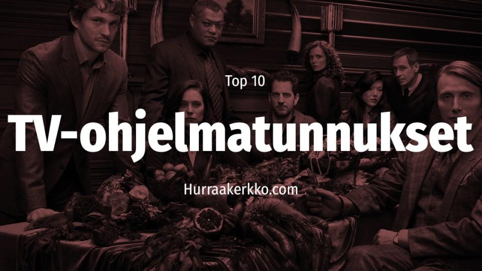 TOP 10 TV-ohjelmatunnukset