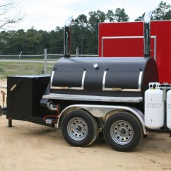 Mobile Kitchen Trailers Complete Cabinets Bbq Rotisserie Smoker Trailer Unit - Hurricane Concessions