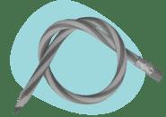 flexible pencils tied in knot