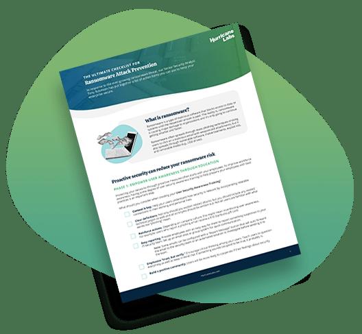 Ransomeware Checklist page