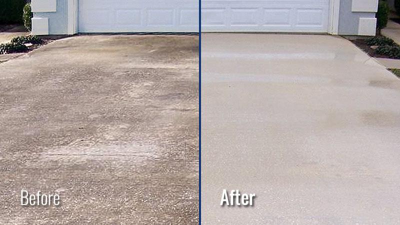 power washing concrete driveways