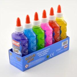 6-Pack Glitter Glue PVA Lim