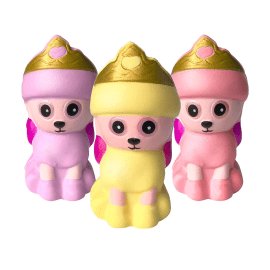 Squishy Kungspudel 3-pack