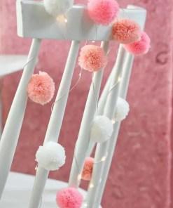 Pom Pom Ljusslinga - We Heart Pink