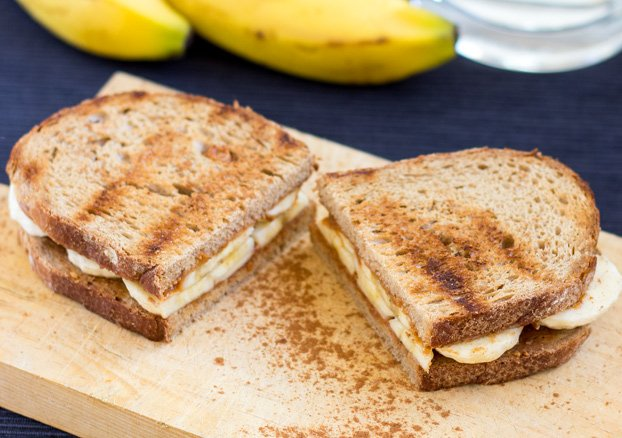 High Protein & Anti Hangover Peanut Butter and Banana Sandwich | Hurry The  Food Up