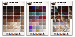 CATWA HAIR New Textures NEW Packs