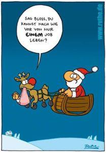 Reindeer and Santa