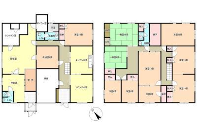 デッカイ道の大きなお家~間取り萌え~建物面積368.92m²