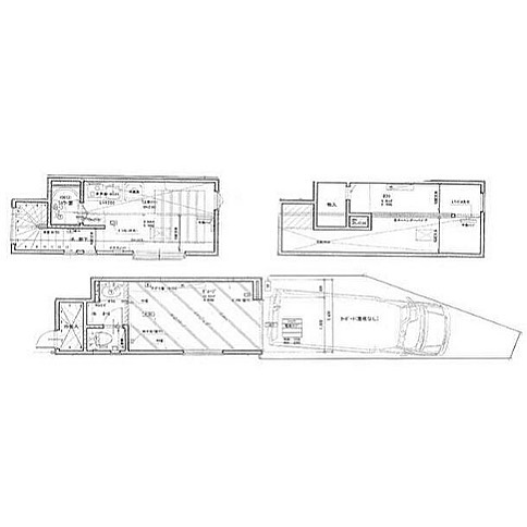 これでワンルームだそうです。アピールポイントは「大型2トン車駐車可能」実におもしろいただ間取り図が…さっぱりわからない!#なんか#ドラマで#聞いたような#聞かないような#セリフ#浮かんだ#小さな#とっても小さな#戸建て#間取り図#眺める#ランチタイム