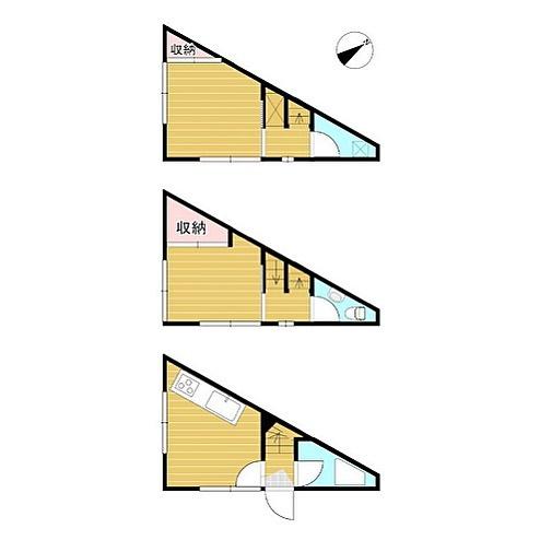 ひさびさ三角#お風呂は#タイルの#レトロ#オリジナル#住みたいか#どうかは#別として#好きな#シリーズ#間取り図