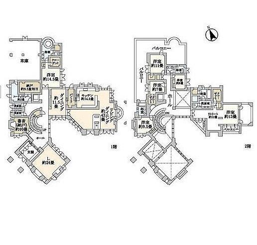 おお2階まで抜けた24畳リビングすごい〜#豪邸#体育館みたい#すごいな#掃除#大変だけど#千葉の#奥地#御殿#趣味ではないけど#じっくり見ちゃう#間取り図