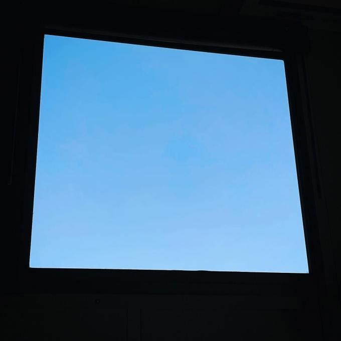 今日はリアルに。プレハブ小屋の窓から、雲一つない空を眺めていました超狭小農園もそろそろ移設再開かな〜しばらく間取り図妄想は休みがちになりそうな気配です〜#朝寒い#昼暑い#夜劇寒い#賃貸#プレハブ日記#間取り図#は#まだない