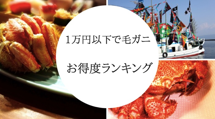ふるさと納税 毛ガニ1万円以下ランキング