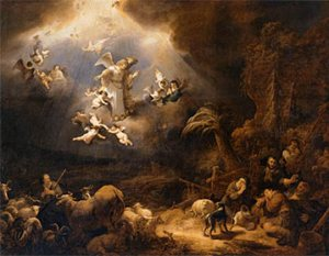 Angels appear to the shepherds