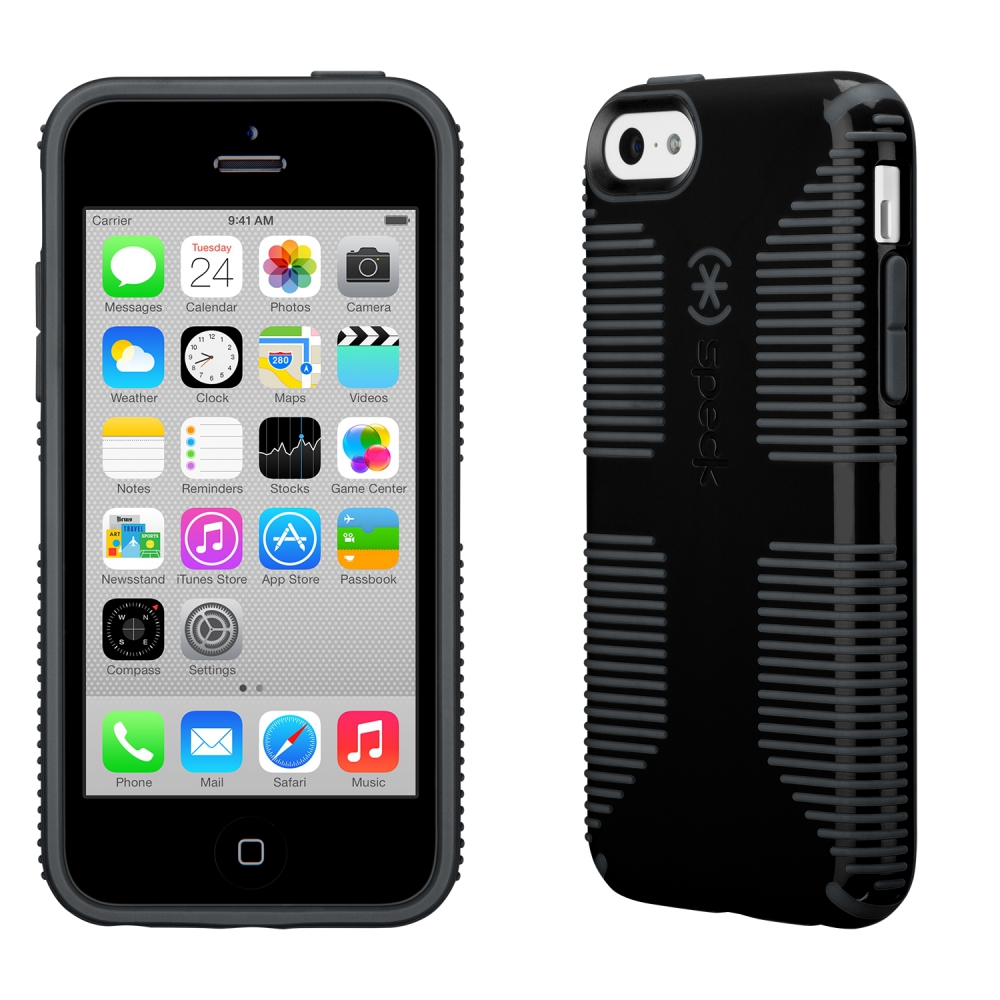 Carcasa iPhone 5C CandyShell GRIP Black/Slate gray
