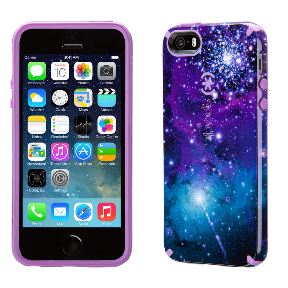 Carcasa iPhone SE, 5, 5s CandyShell Inked Galaxy Purple