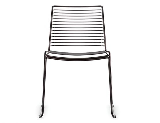 Modern Black Wire Outdoor Dining Chair