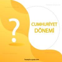 Cumhuriyet Dönemi Türk Edebiyatı Çıkmış Sorular (2010-2019)