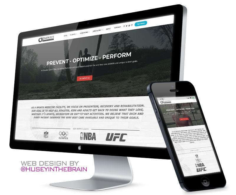 Design for sports medicine website