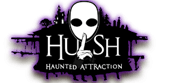 The official Hush Haunted Attraction logo.
