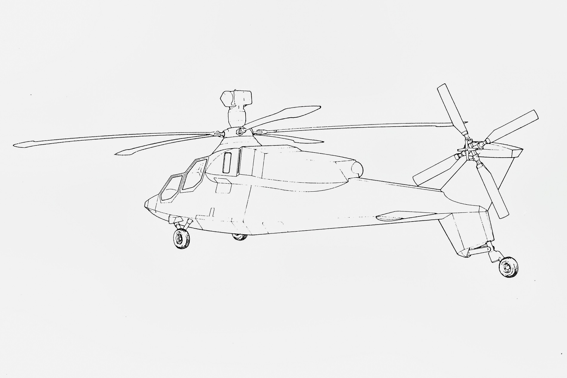 Stingbat LHX stealth helicopter: would it have worked in
