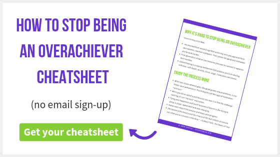 How to Stop Being an Overachiever | You can't help chasing results, working too much and beating yourself up. Find out why and how to stop being an overachiever to feel more joyful.
