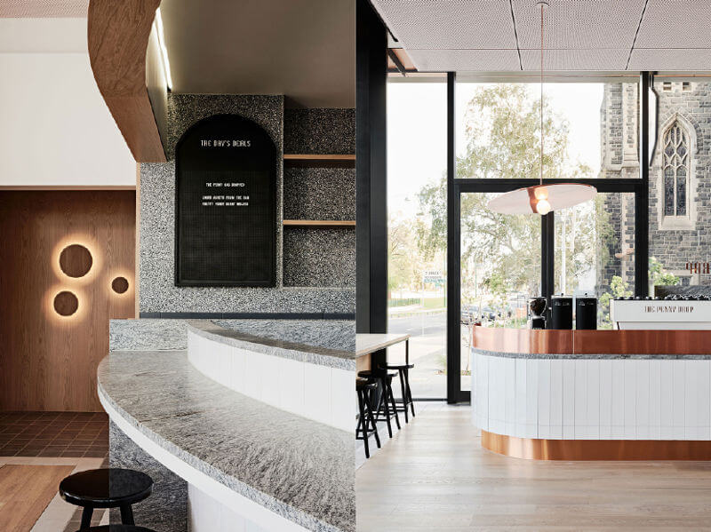 the penny drop café melbourne design by huntly