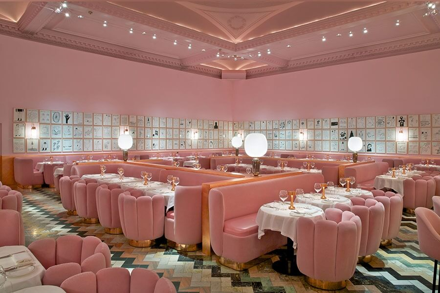 The rose in retail-India Mahdavi, the Gallery at Sketch restaurant, London