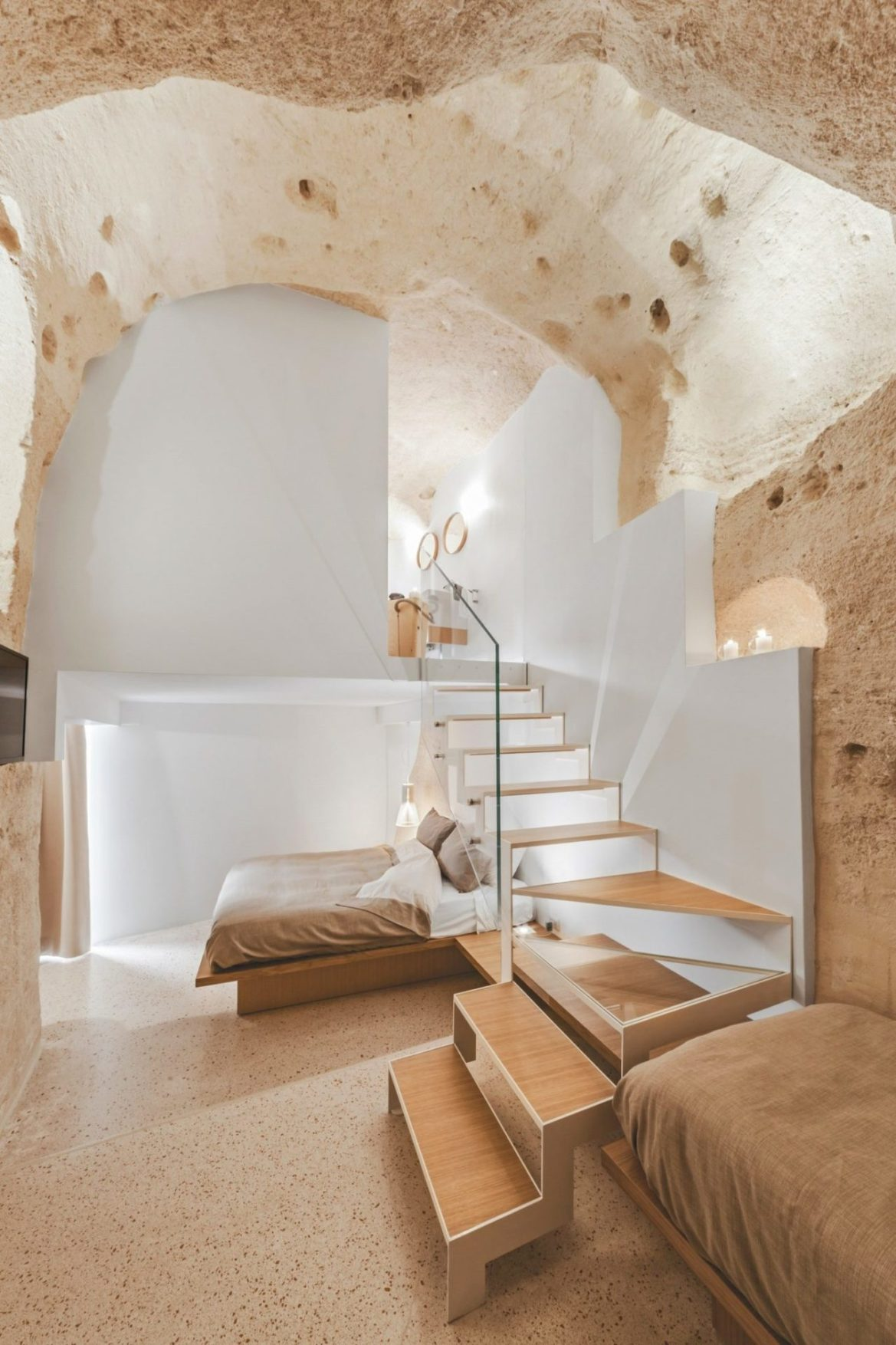 Architecture d'intérieur, le style Homme des Cavernes, Manca Studio, La Dimora di Metello