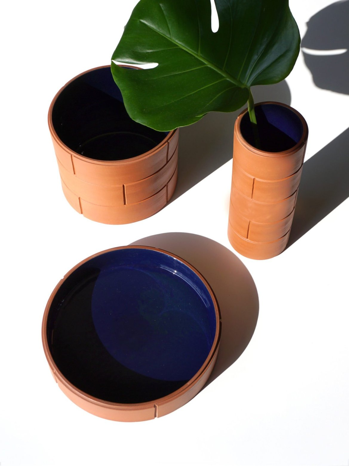 A collection of contemporary ceramic products inspired by modern architecture, designed by Murmull.