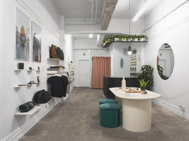 The new C'est Beau store in Montreal is exclusively showcasing products made in Quebec, designed by obiekt.