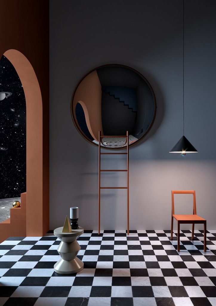 Notoostudio interior and styling agency is inspired by the surrealist painters of the 20th Century to stage furniture.