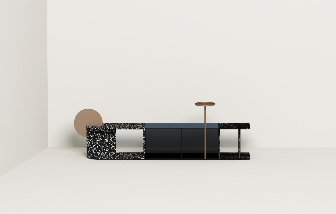 On the occasion of Maison & Objet, Urbancraft presented new works including Terrazzo, glass and marble low tables.