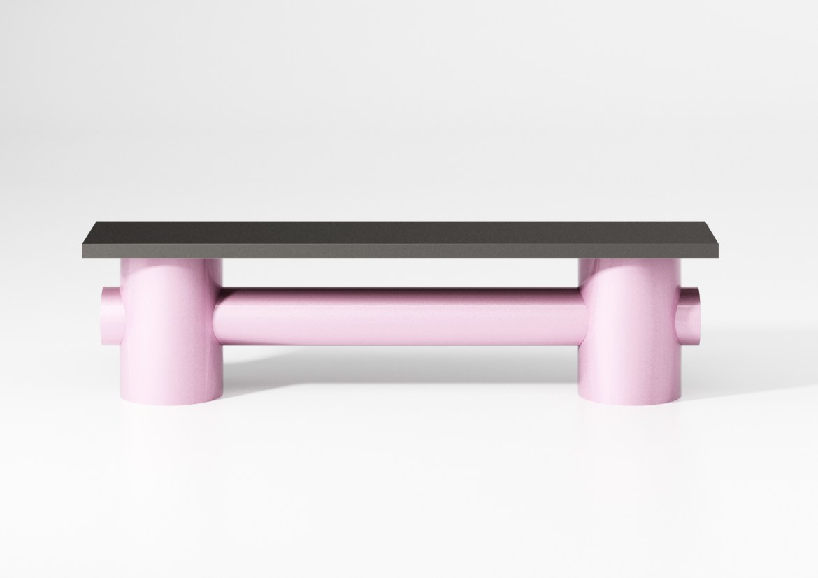 On the occasion of Maison&Objet and Paris Déco Off 2019, designer Fredrik Paulsen did a pink metal bench.