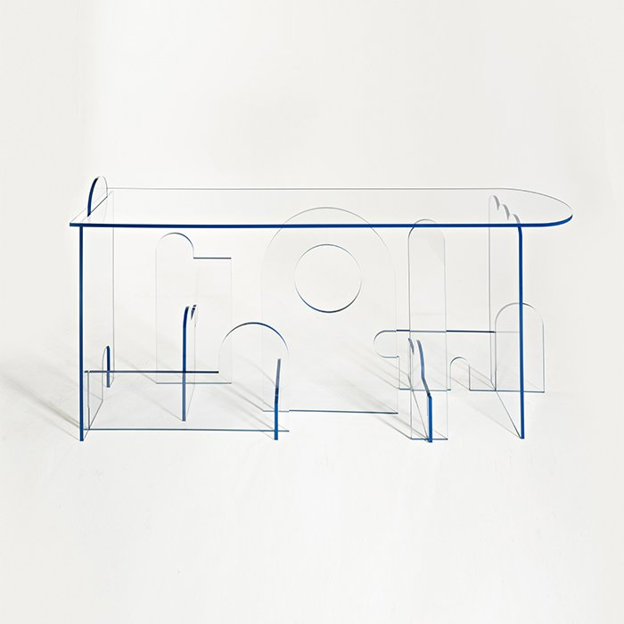 Transparent coffee table, Collectible Design gallery.
