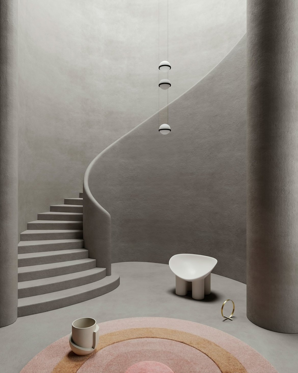 Set design autour d'un escalier, Cristina Lello.