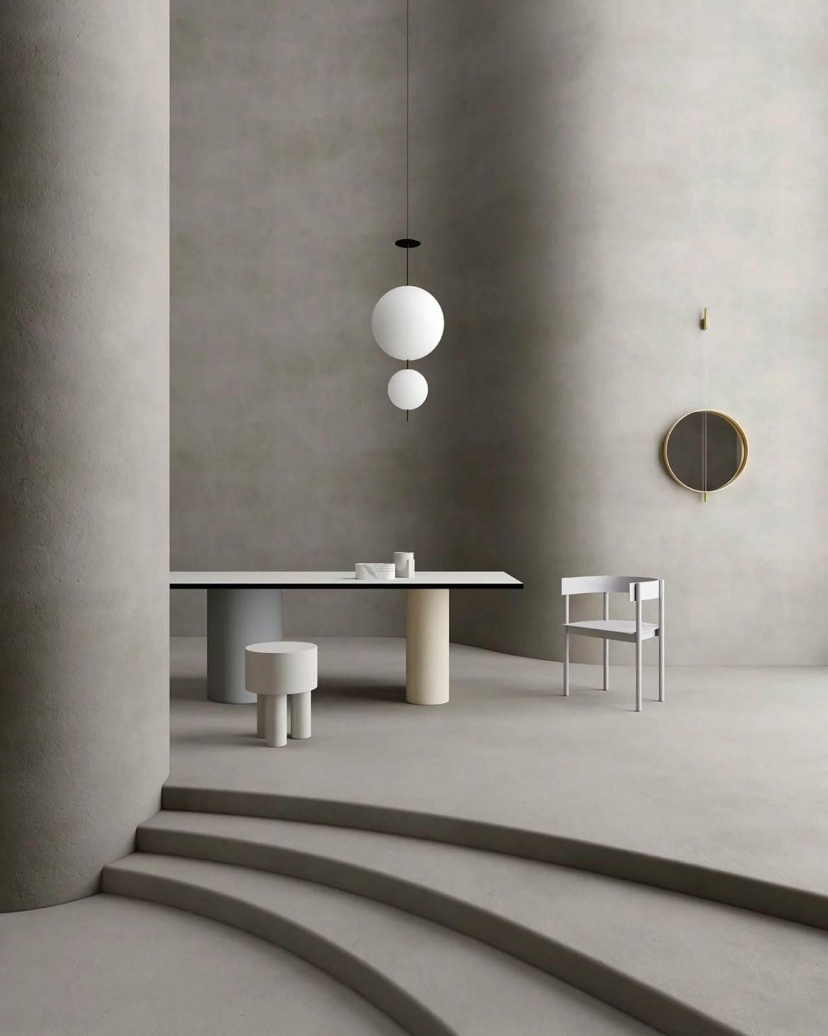 Set design dans un intérieur organique, Cristina Lello.