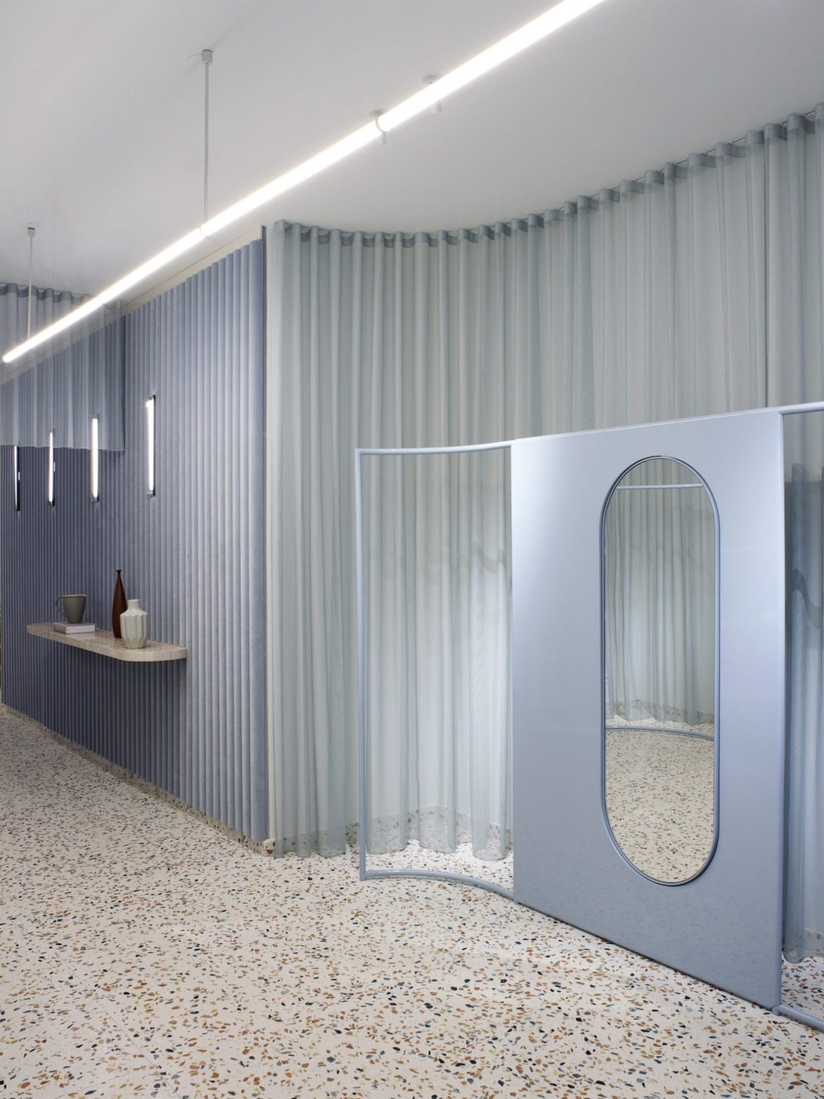 Concept store murs bleus