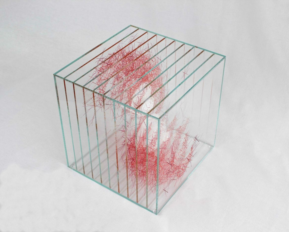 Design glass coffee table, design Ludovic Roth for Cassiom