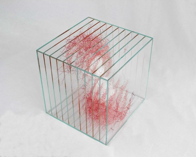 Table basse en verre design, design Ludovic Roth pour Cassiom