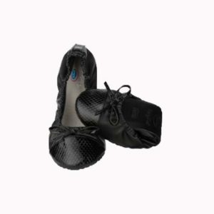 Pocket Ballerina Croco-Black