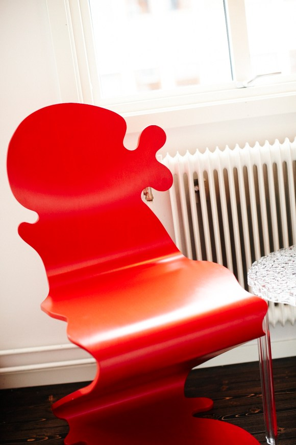 Röd unik stol
