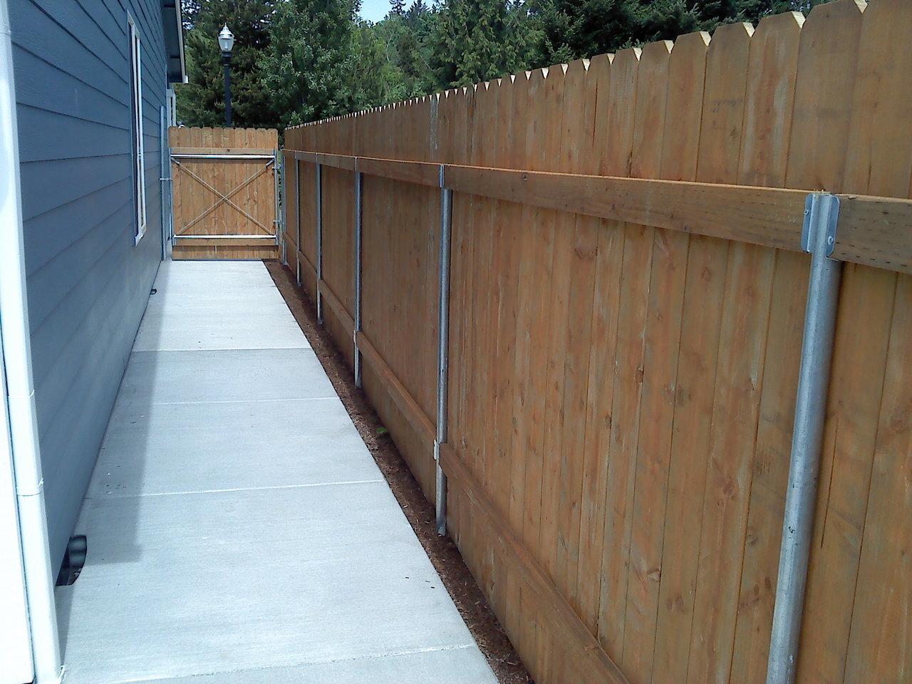 pressure treated wood fences