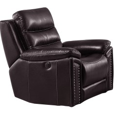 Brown Leather Rocking Chair Office Kl Jetson Reclining Air Code G03