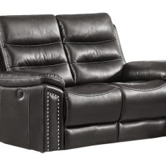 Grey Power Reclining Sofa White Tufted Overstock Jetson Loveseat - Leather Air Code # G12 ...