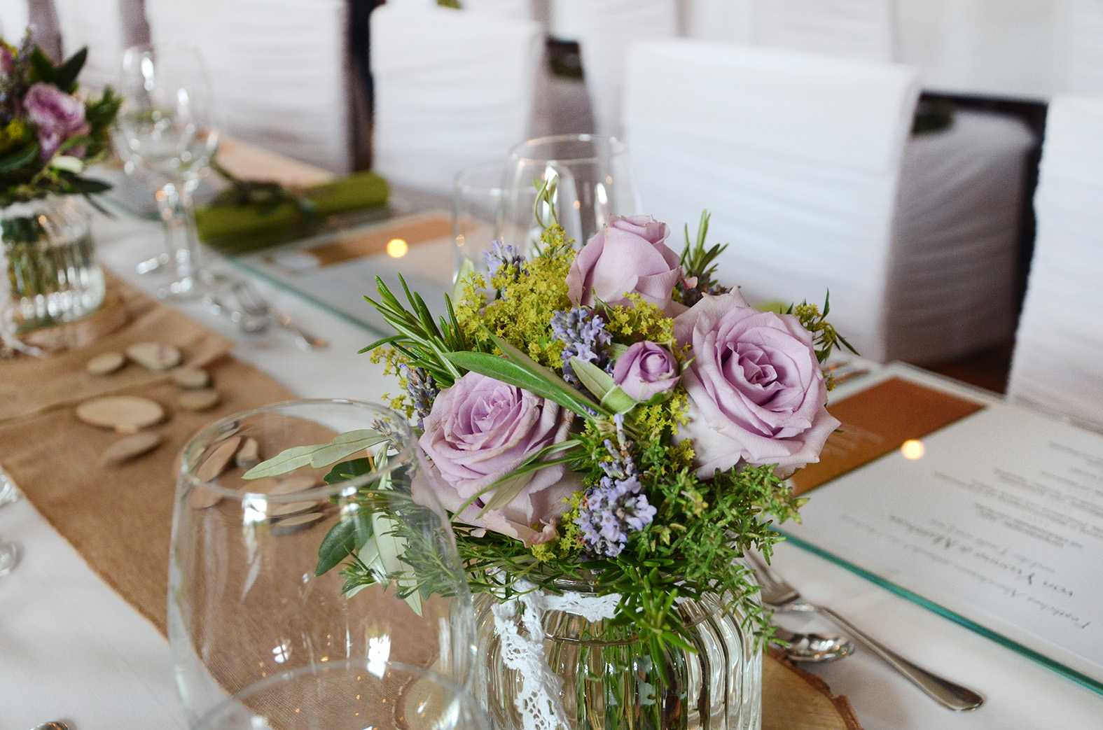 Hochzeitsdekoration Kruter  Deko  Design