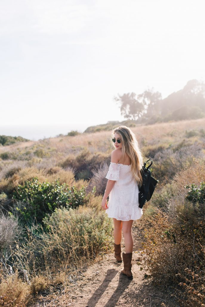 White Mini Dress // Hustle + Halcyon Style