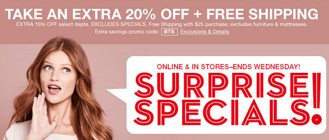 Macy's Surprise Sale Promotion: Get An Extra 20% Off