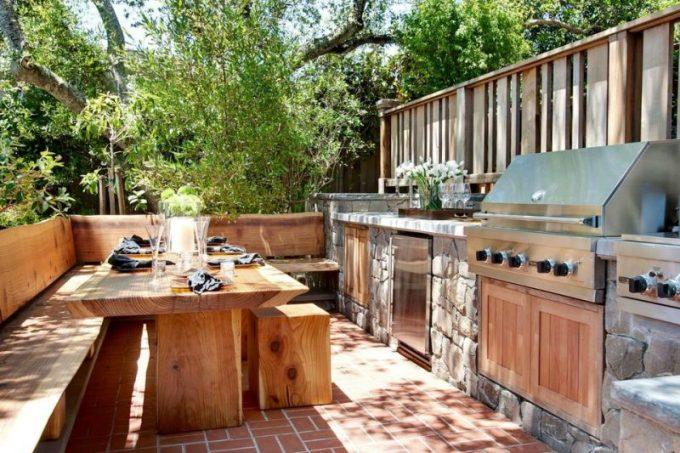 ideas de cocina de granja al aire libre