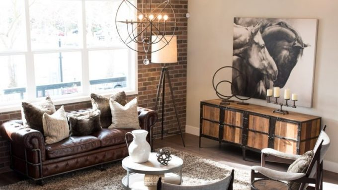 Industrial style small living room
